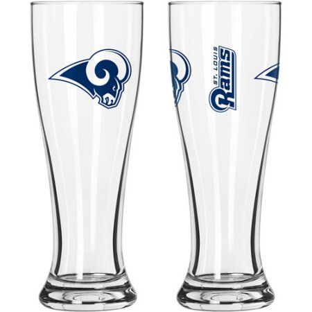 16oz NFL Saint Louis Rams Gameday Style Glass Pilsner Set, 2pk, Multicolor