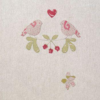 Linen Lovebird Fabric - 126