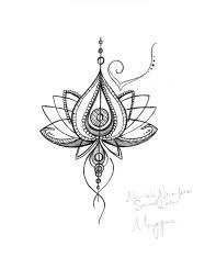 Image result for abstract lotus flower tattoo
