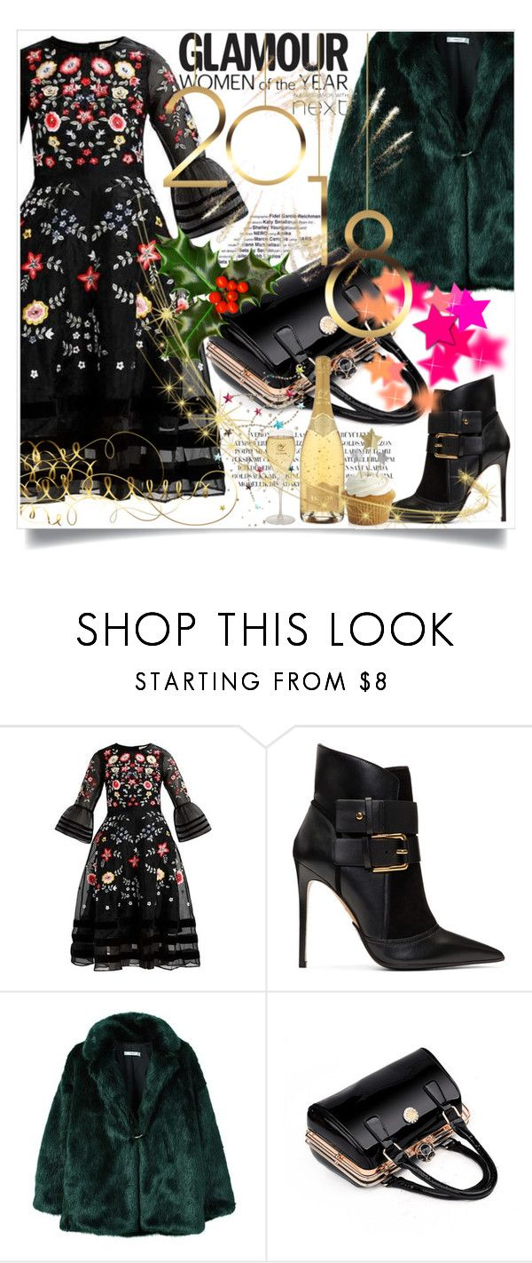 """HAPPY NEW 2018 YEAR"" by kristina-bishkup ❤ liked on Polyvore featuring Balmain, MANGO, Goody and Crate and Barrel"