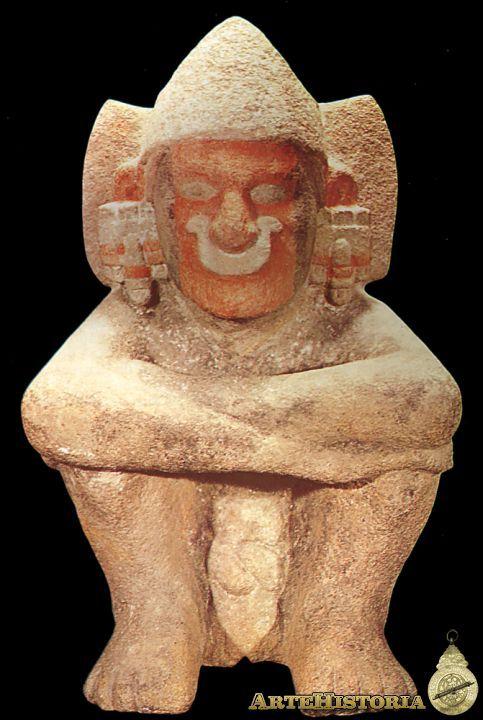 Xiuhtecuhtli,señor del año, contraparte de Huehueteotl deidad muy antigua, del fuego, cerámica pigmentada procedente del Templo Mayor de Tenochtitlan, Período Posclásico. Cultura Mexica/azteca. Ciudad de México. mcba.