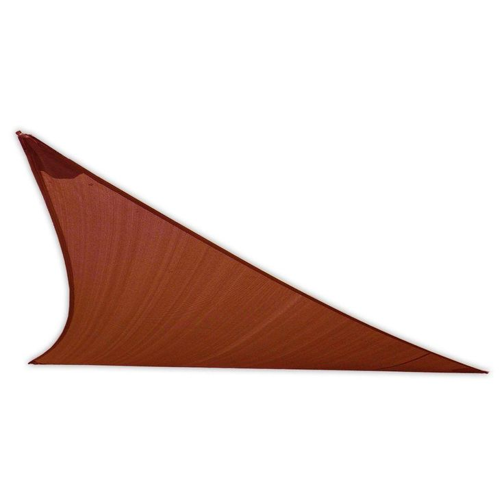 EarthCo Shade Sails 16-1/2 ft. Rust (Red) Triangle Patio Shade Sail with Mounting Hardware