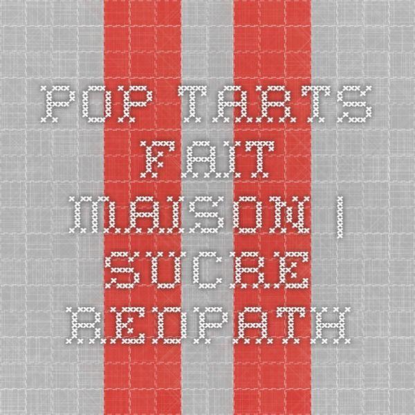 Pop Tarts fait maison | Sucre Redpath