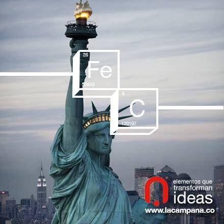 La estatua de la libertad fue un regalo de los franceses para los estadounidenses y fue inaugurada en 1886. Contiene 125 toneladas de acero.  www.lacampana.co