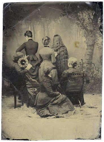 .: Hair Down, Victorian Photo, Victorian Mourning, Long Hair, Vintage Photo, Families Portraits, Antiques Photography, Group Photo, Woman Hairstyles