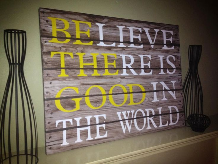 Be the Good Handmade Sign by FairytaleBeginnings1 on Etsy, $150.00