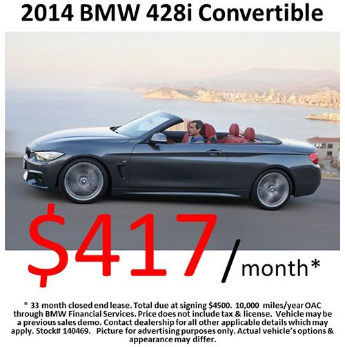 $417/month on a 2014 #BMW 428i Convertible! Offer expires: 07/31/2014