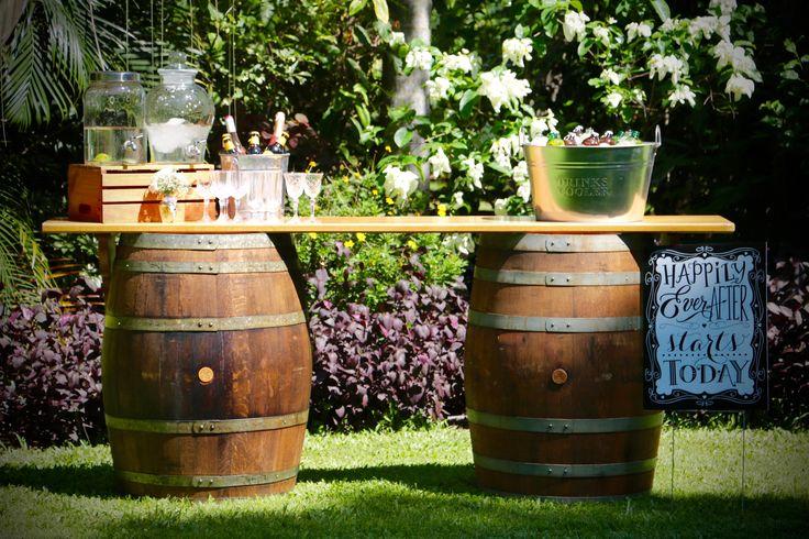 Wine barrell bar