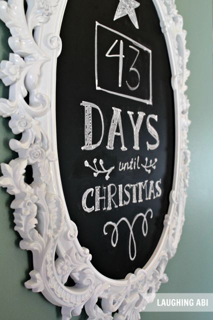 12 days of easy christmas decorating countdown to christmas chalkboa. Black Bedroom Furniture Sets. Home Design Ideas