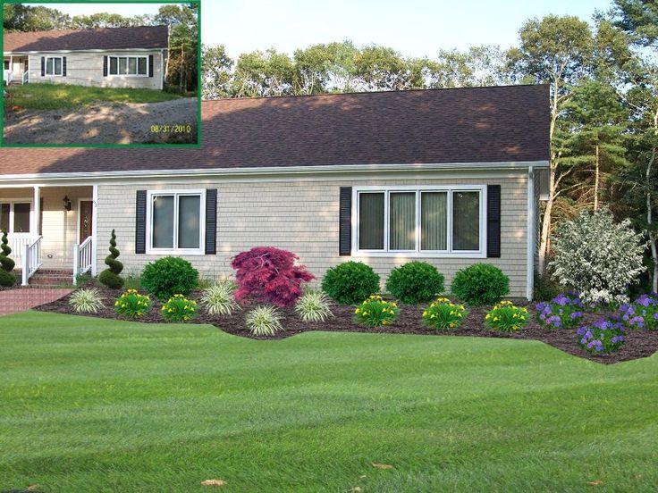 How To Landscape Design Front Of House Part - 25: Landscape Design, Front Of Home Design, Planting Bed Design, Westport, MA  -will Work Easily For Our Home-