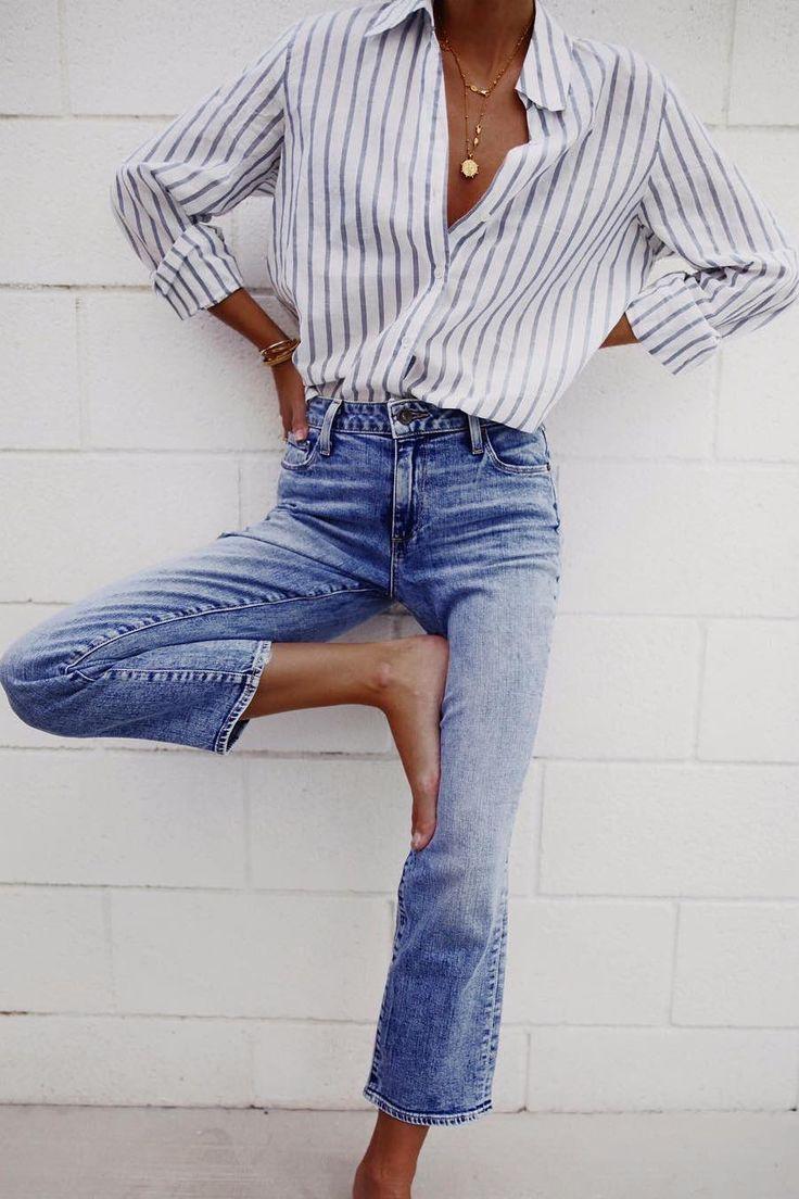 Minimalistische Mode: Entdecken Sie mehr als 25 Möglichkeiten, ein Button-Down-Shirt #minimalisam