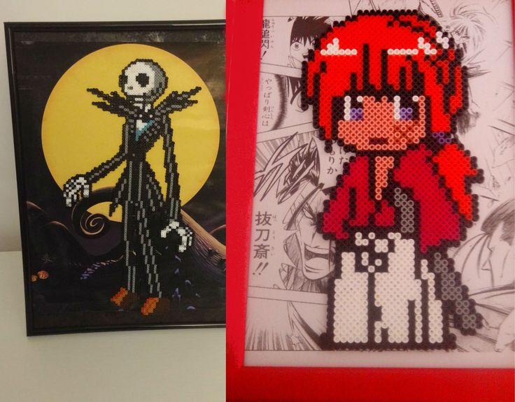 Jack Skeleton y Kenshin por Malafollá Granaina