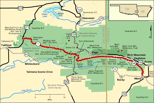 West Virginia Scenic Drives Map | Some regions of this map can be clicked on to view further information ...