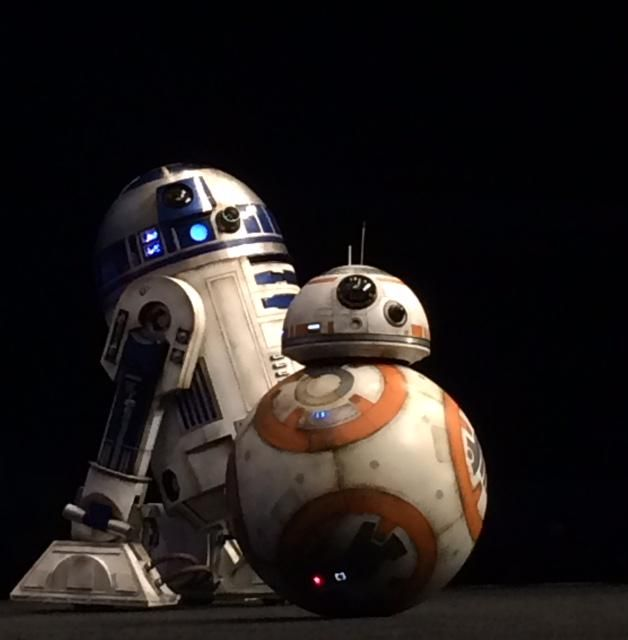 """First R2D2 was all like """"Beep boop beep"""" and then #BB8 was all like """"Beep beep boop."""" #SWCA"""