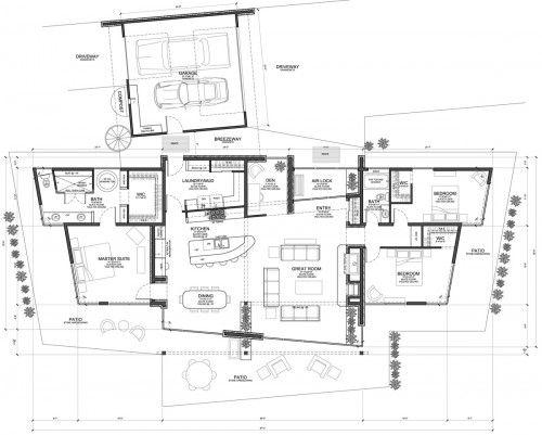 Modern home open floor plans
