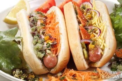 Receita de Hot dog americano em receitas de paes e lanches, veja essa e outras receitas aqui!