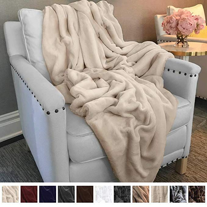 The Connecticut Home Company Ultimate Velvet With Sherpa Throw Blanket Soft Large Plush Reversible Blankets Warm An Throw Blanket Reversible Blanket Blanket
