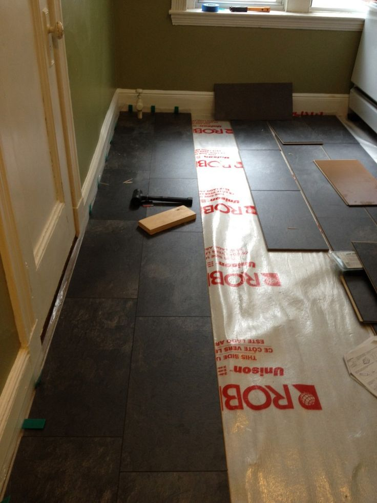 Pergo Slate Floor Before And After How To Install Laminate