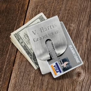 Personalized Harrison Clever Engraved Money Clip is a sophisticated money clip which is a masterpiece of balance and symmetry.