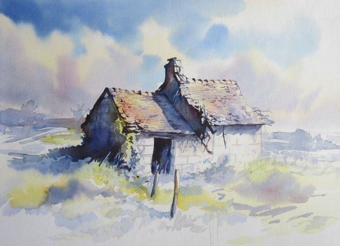 Les 25 meilleures id es concernant paysage l 39 aquarelle sur pinterest arbres en aquarelle - Paysage peinture facile ...