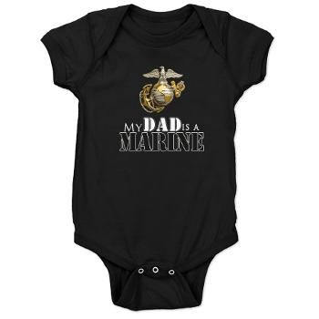 My Dad is a Marine Baby onesie, for any new baby who's  Daddy is a Marine. How cute #usmc