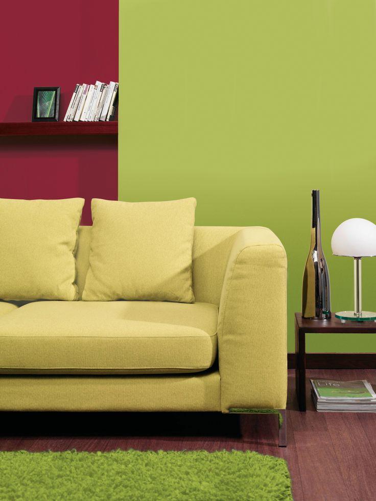wohnzimmer avocado rot sofa obi farbwelten pinterest. Black Bedroom Furniture Sets. Home Design Ideas