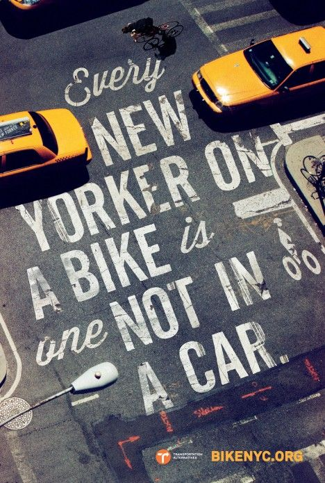 Campaign for BikeNYC by Mother New York. | #campaign #design #poster #typography #bike #biking #cycling #bicycling #urban #newyork
