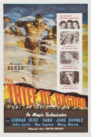 O LADRÃO DE BAGDAD (The Thief of Bagdad) Directed by:Michael Powell, Tim Whelan Starring:Conrad Veidt, Sabu Dastagir, Rex Ingram, June Duprez, John Justin, Miles Malleson, Morton Selten, Mary Morris