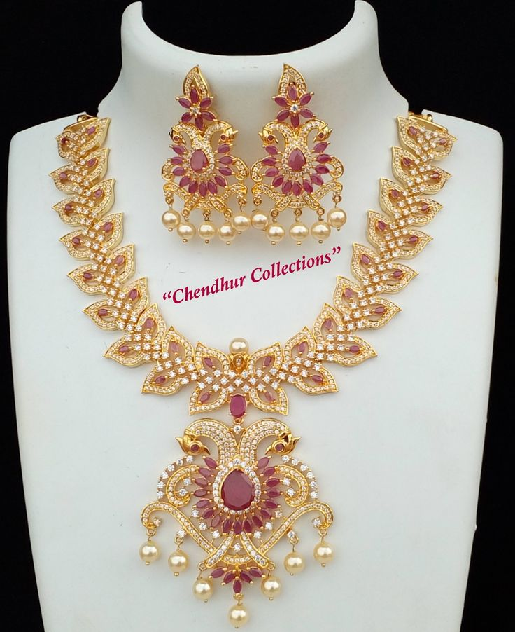 Bridal Diamond Necklace And Haram Set: 2079 Best Indian Jewellary Images On Pinterest