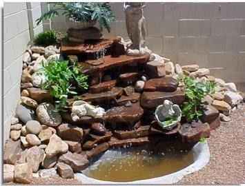 Las 25 mejores ideas sobre cascadas artificiales en for Antorchas para jardin caseras