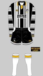 Notts County 1993-94 kit