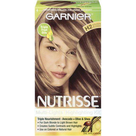Garnier Nutrisse Nourishing Color Creme Hair Color, H2 Golden Blonde, Gold