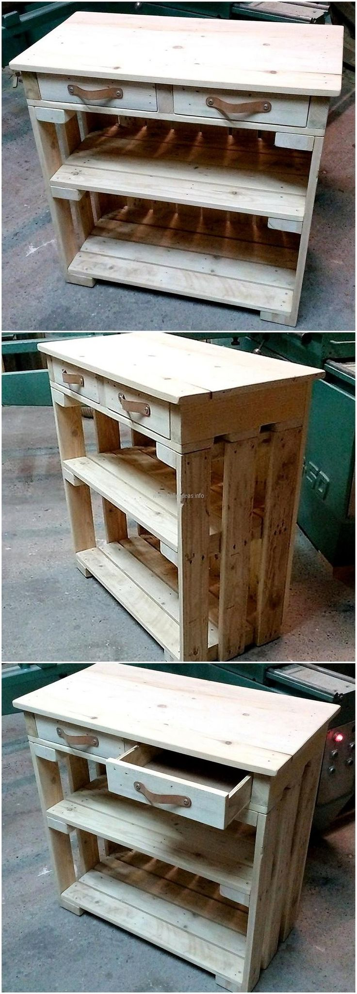 reclaimed pallet entrywal table idea