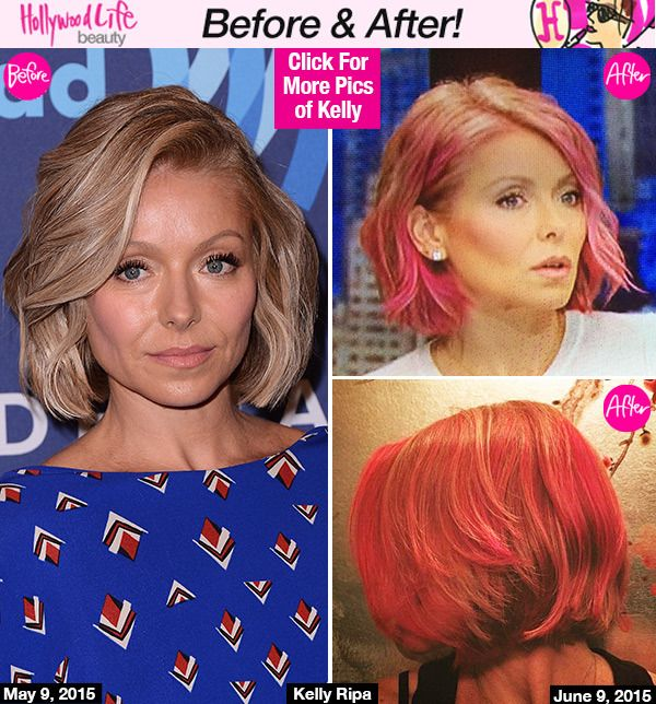 Kelly Ripa's Dramatic Hair Makeover — Debuts Pink Hue