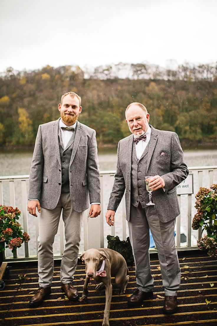 Tweed Groom Dog Pet Relaxed Quirky Sailing Club Wedding http://www.stevebridgwoodphotography.co.uk/