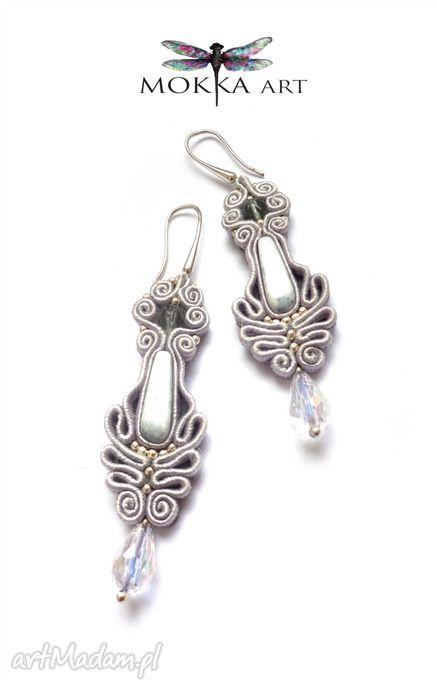 • Pendientes originales, joyas - pendientes Soutache trenza greyorient