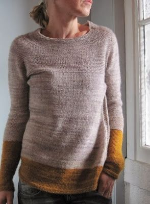 Grasflecken: knitting pattern Antler test knit - love this colourway