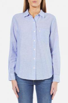 Levi's Women's Sydney One Pocket Boyfriend Shirt - Tabla Original Stripe - XS https://modasto.com/levis/kadin-ust-giyim-gomlek-bluz/br3388ct4