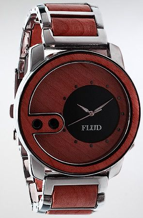 The Exchange Watch in Red Wood by Flud Watches