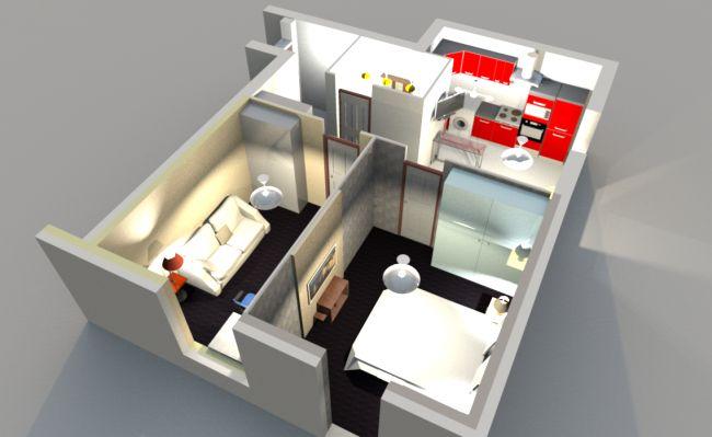 Дизайн белой кухни-гостиной с барной стойкой из камня в Москве (18 фото)