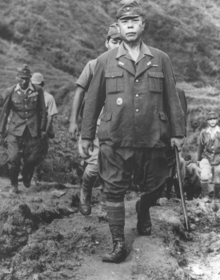 General Yamashita en route to signing the Jap surrender in the Philippines. Yamashita was hanged in 1946 for war crimes.