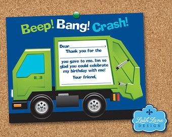 Garbage/Recycle Truck Birthday Party by LeahLaneDesign on Etsy