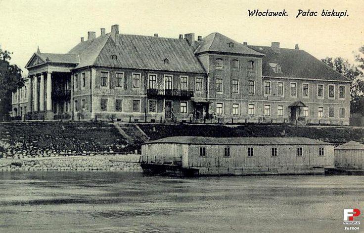 Kuria Diecezjalna (Pałac Biskupi), Włocławek - 1909 rok, stare zdjęcia