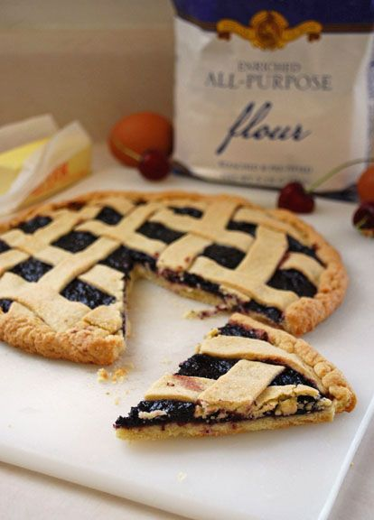 Italian Jam Crostata   Pass the Cocoa: Simple and easy, yet delicious and elegant.