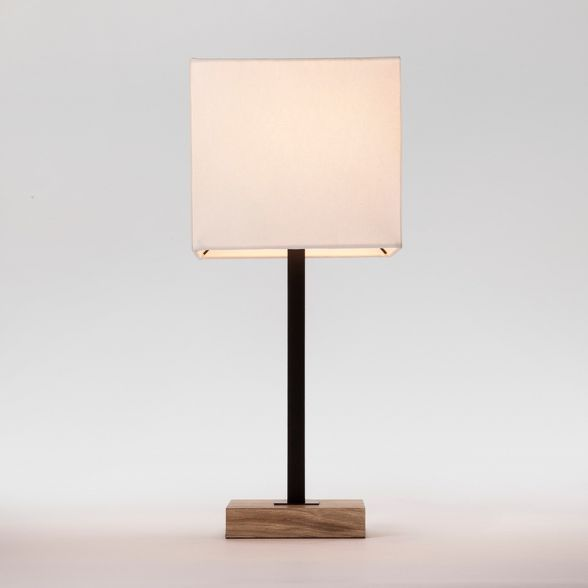 Wood Square Base Table Lamp Black Project 62 In 2020 Black
