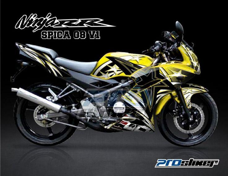 Stiker Motor Kawasaki Ninja 150 RR Kuning