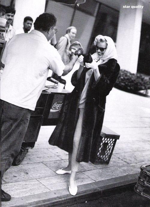 "US Vogue October 1992 ""Star Quality"" Model: Eva Herzigova Photographer: Dewey Nicks Stylist: Carlyne Cerf de Dudzeele Hair: Troy Haltermann Makeup: Moyra Mullholland"