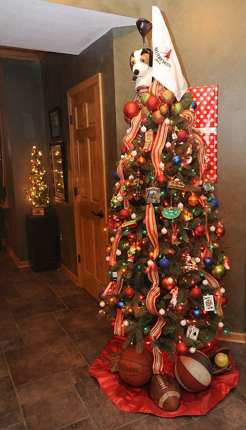 Best sports theme christmas tree images on pinterest