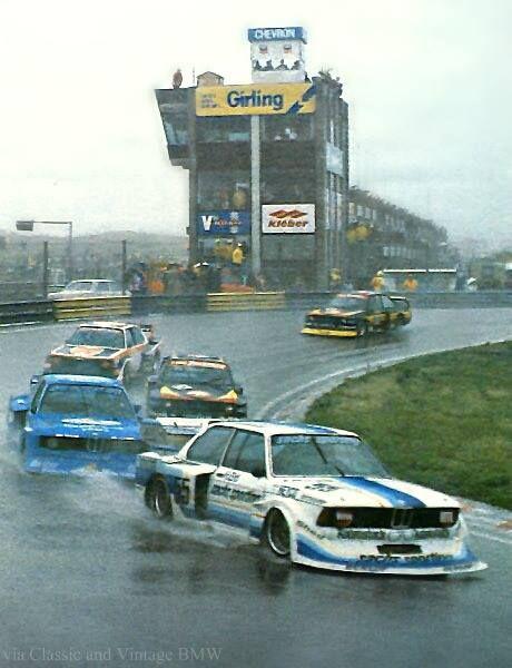 July 2, 1978 - DRM Zandvoort: Harald Ertl's second place #55 Schnitzer 320i Turbo getting its feet wet.