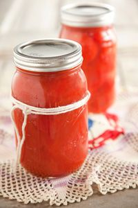 Paula Deen Canned Tomatoes. Good way to perserve the delightful taste of summer tomatoes!